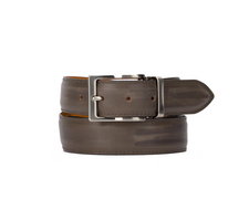 exclusive leather belt - deco grey
