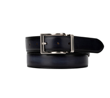 Exclusive Leather Belt - Deco Navy