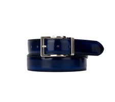 Leather Belt - Polished Blue
