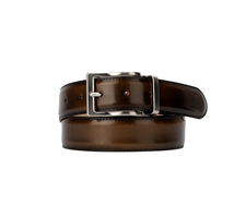 Leather Belt - Polished Bronze