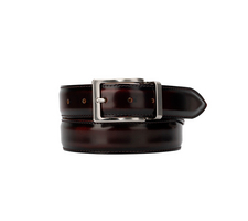 Leather Belt - Polished Red
