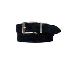 Leather Belt - Suede Deep Navy Blue