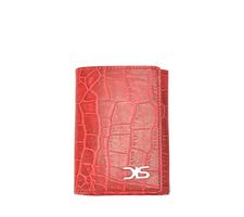 Portafoglio in pelle stampa cocco rossa