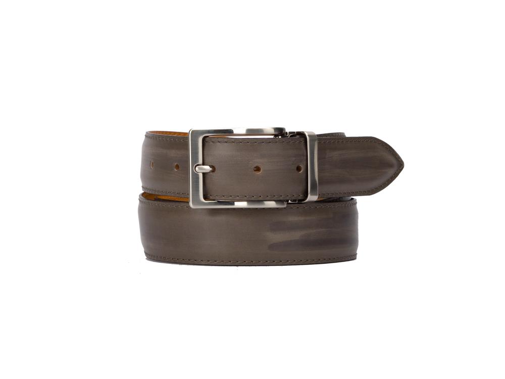 exclusive leather belt - deco grey