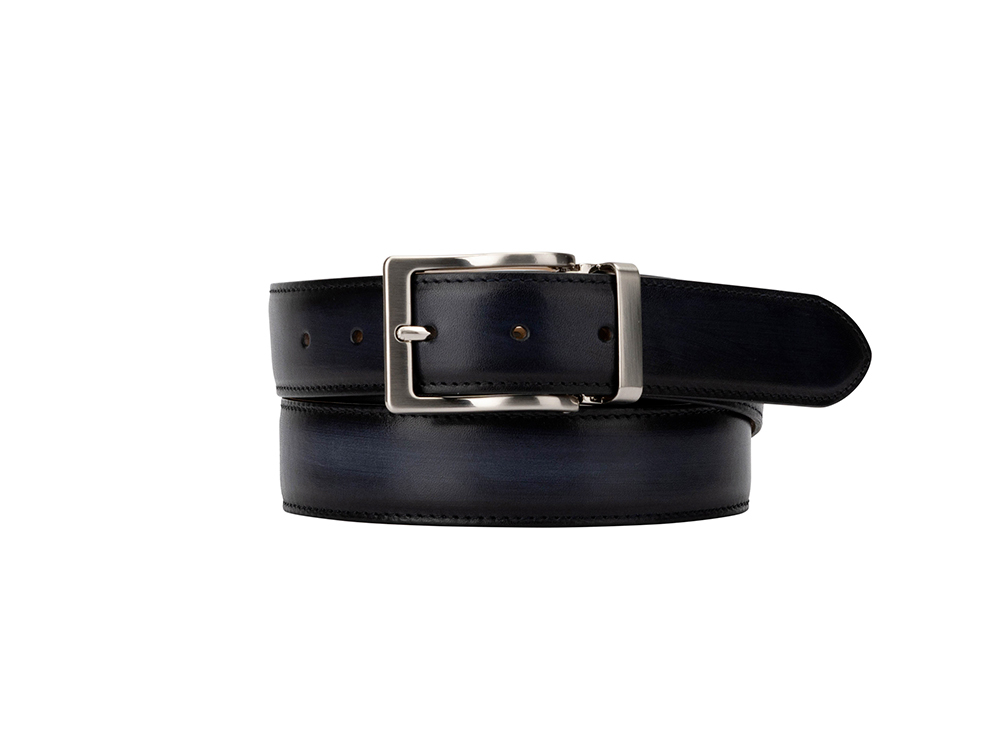 Exclusive Leather Belt - Deco Navy