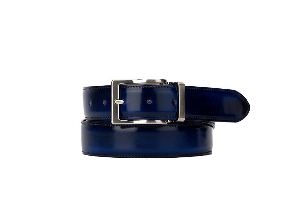 Leather Belt - Polished Blue