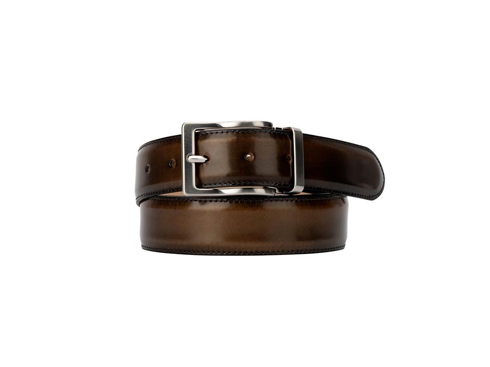 Leather Belt - Polished Bronze
