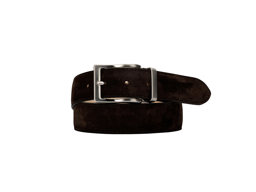 Leather Belt - Suede Coffee