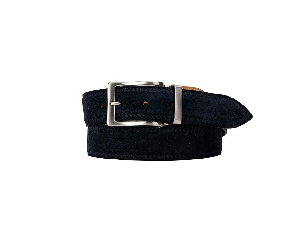 Leather Belt - Suede Deep Navy Blue