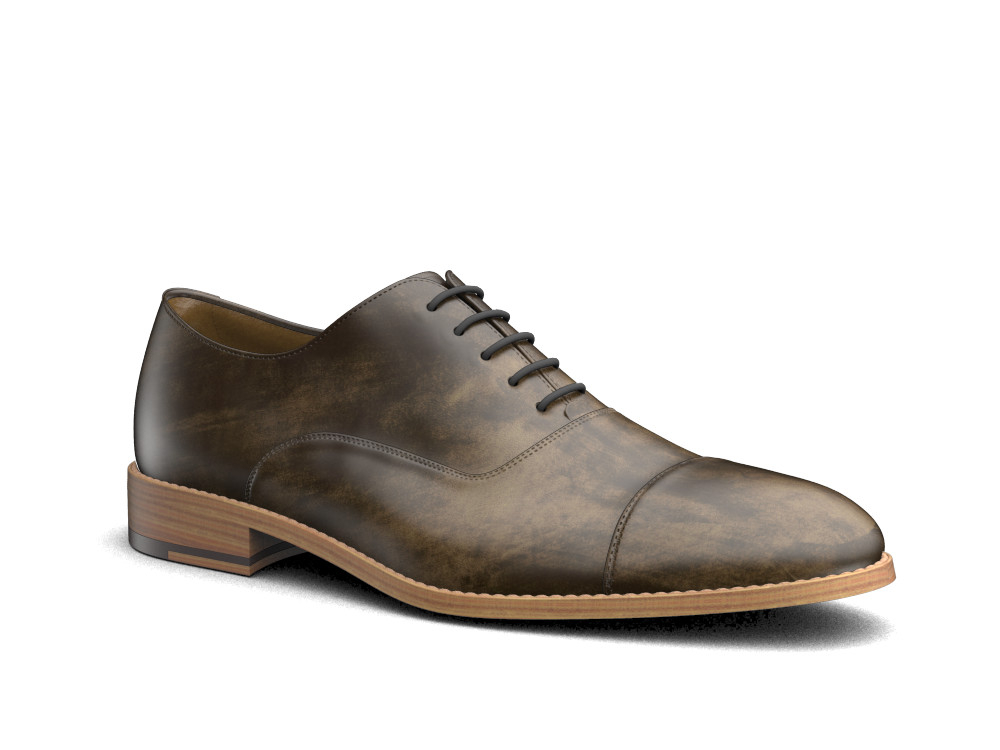 olive decò leather men oxford toe cap