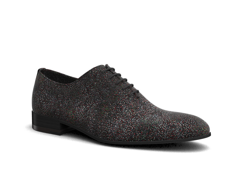black stardust leather men oxford plain