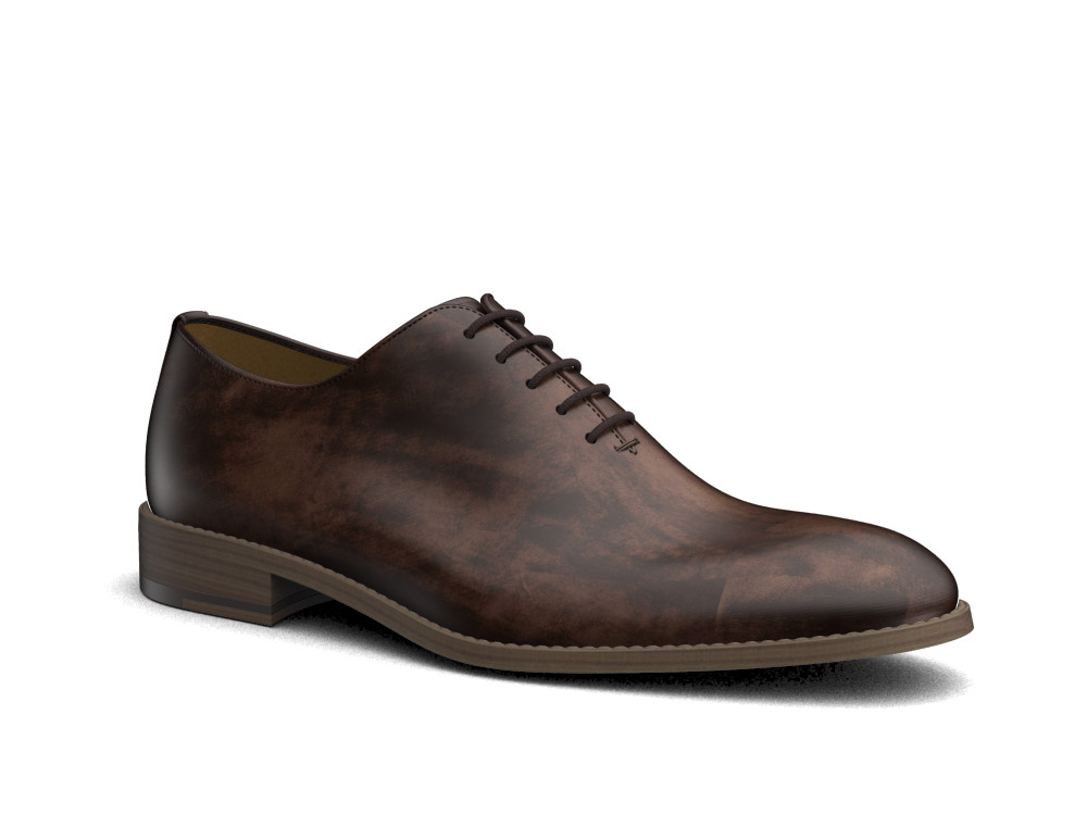 coffee decò leather men oxford plain