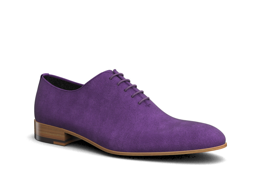 violet suede leather men oxford plain