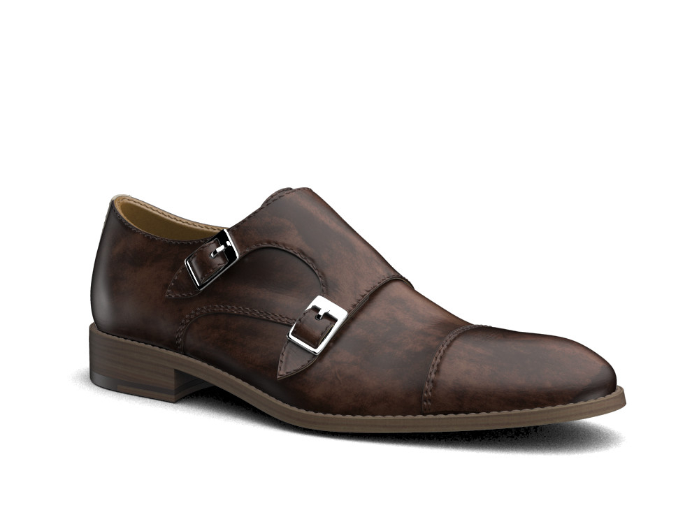 coffee decò leather men double monk