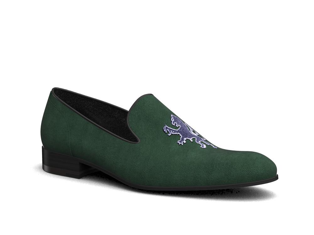 green suede griffin men slip on