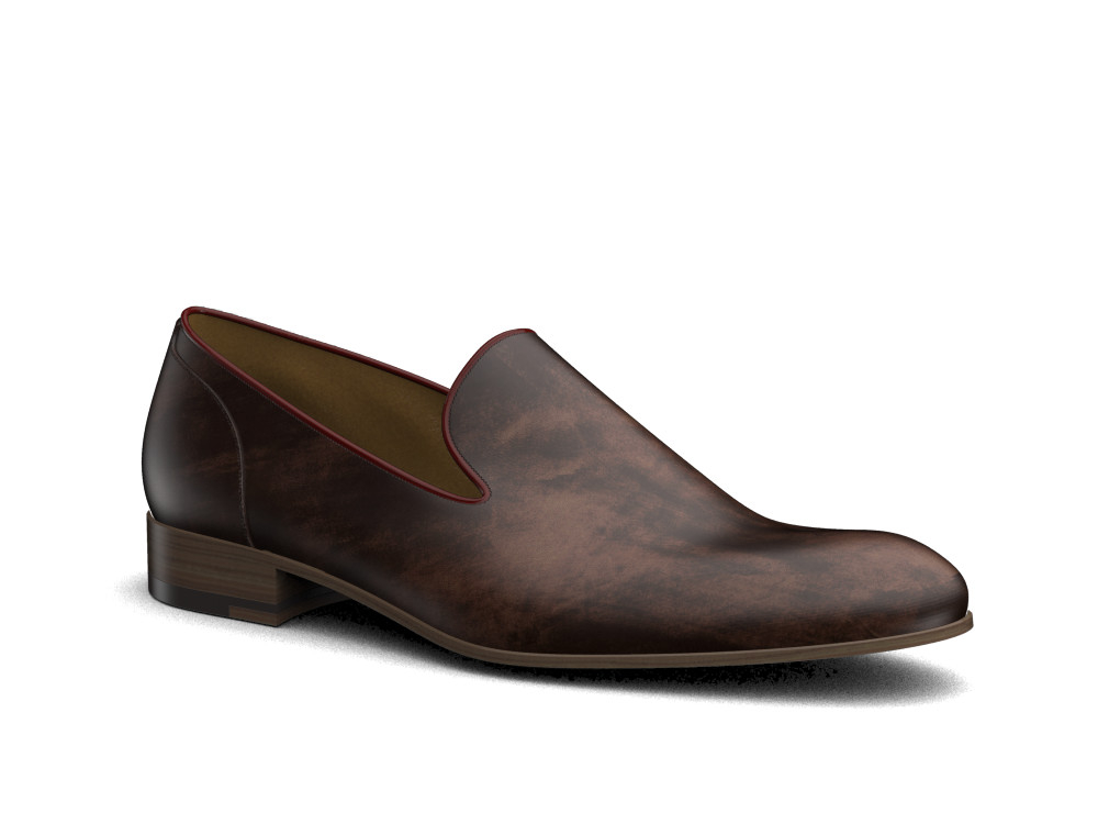 coffee decò leather men slip on