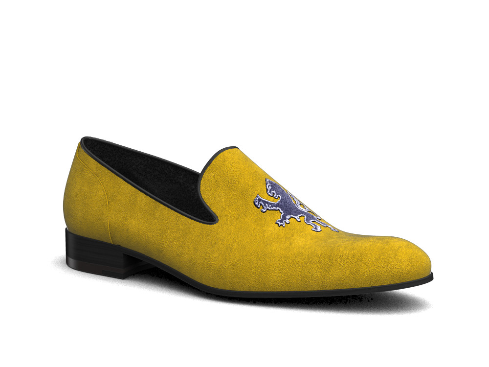 sun suede leather men slip on