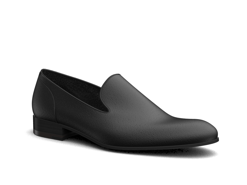 black calf leather men slip on