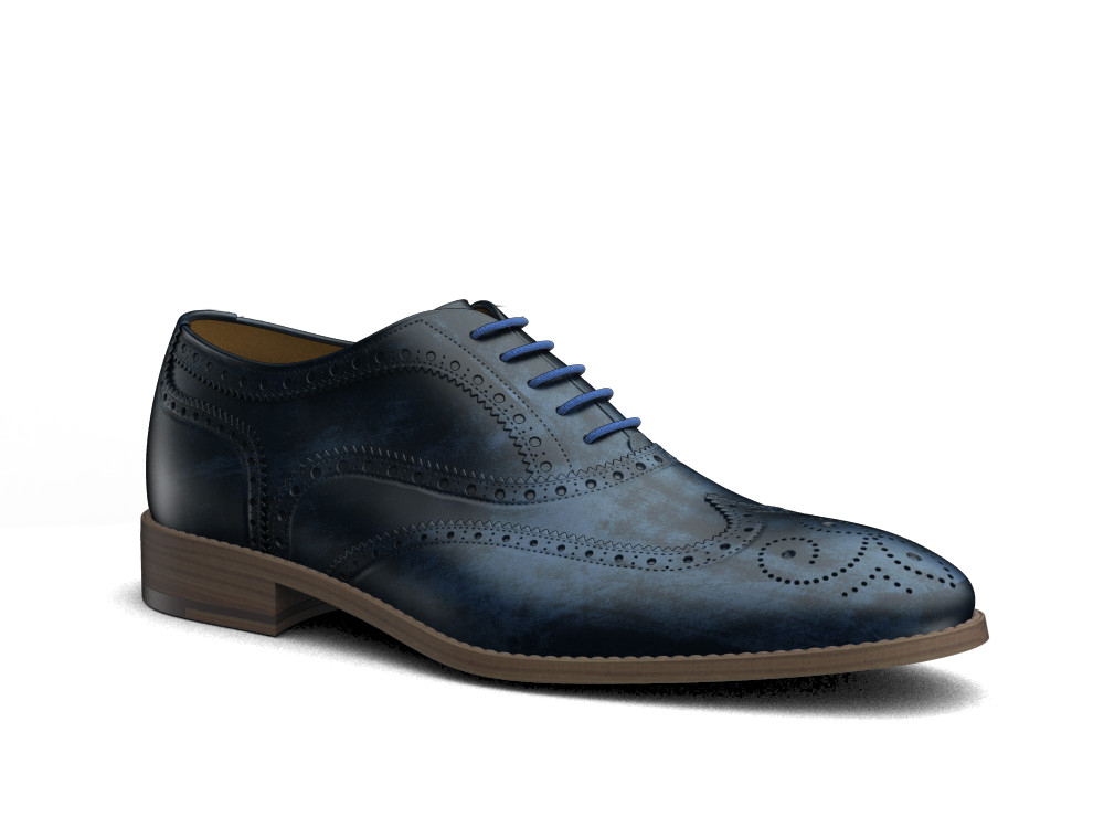 blu decò leather men oxford wing brogue