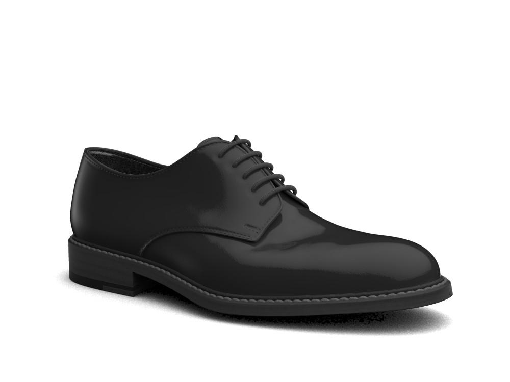 black shiny book leather men derby plain