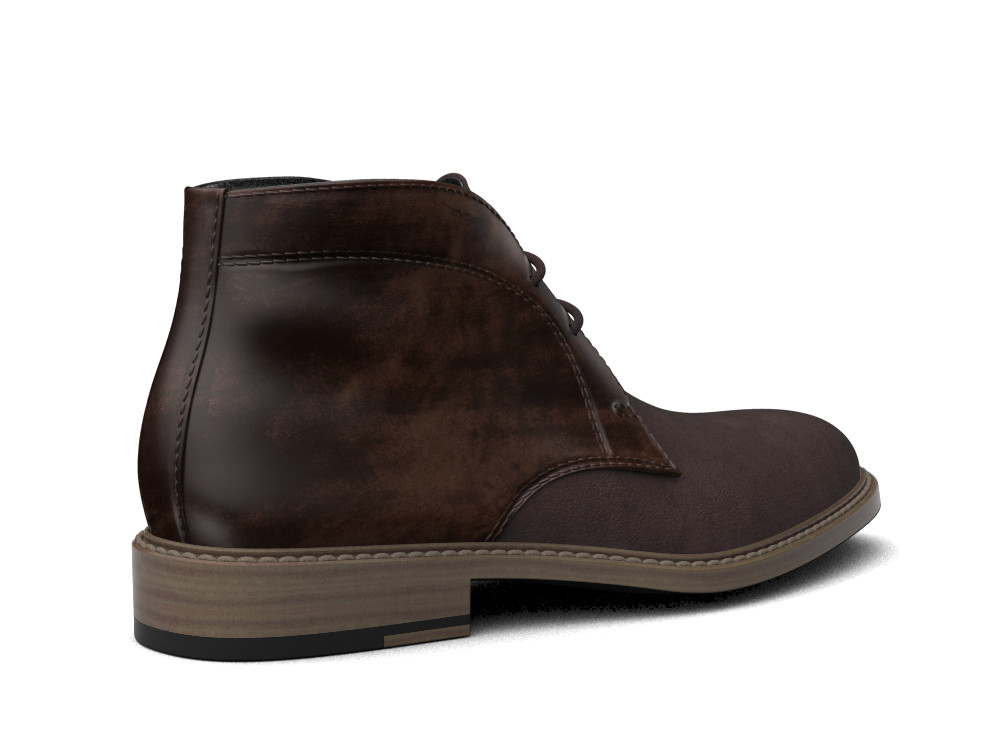 coffee suede polished leather men desert boot dis. Black Bedroom Furniture Sets. Home Design Ideas