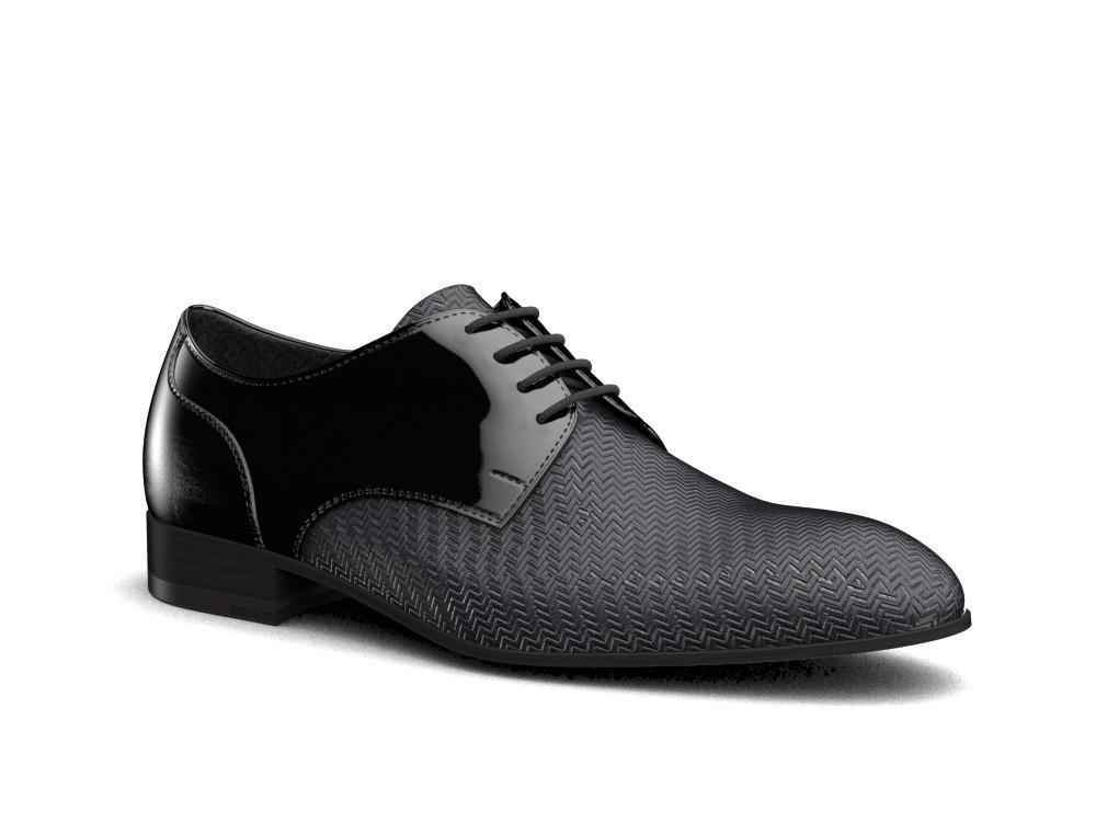 derby plain men patent black