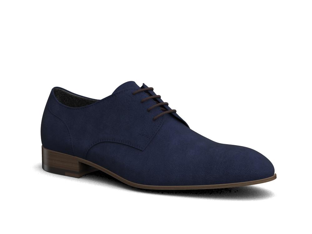 navy suede men derby shoes