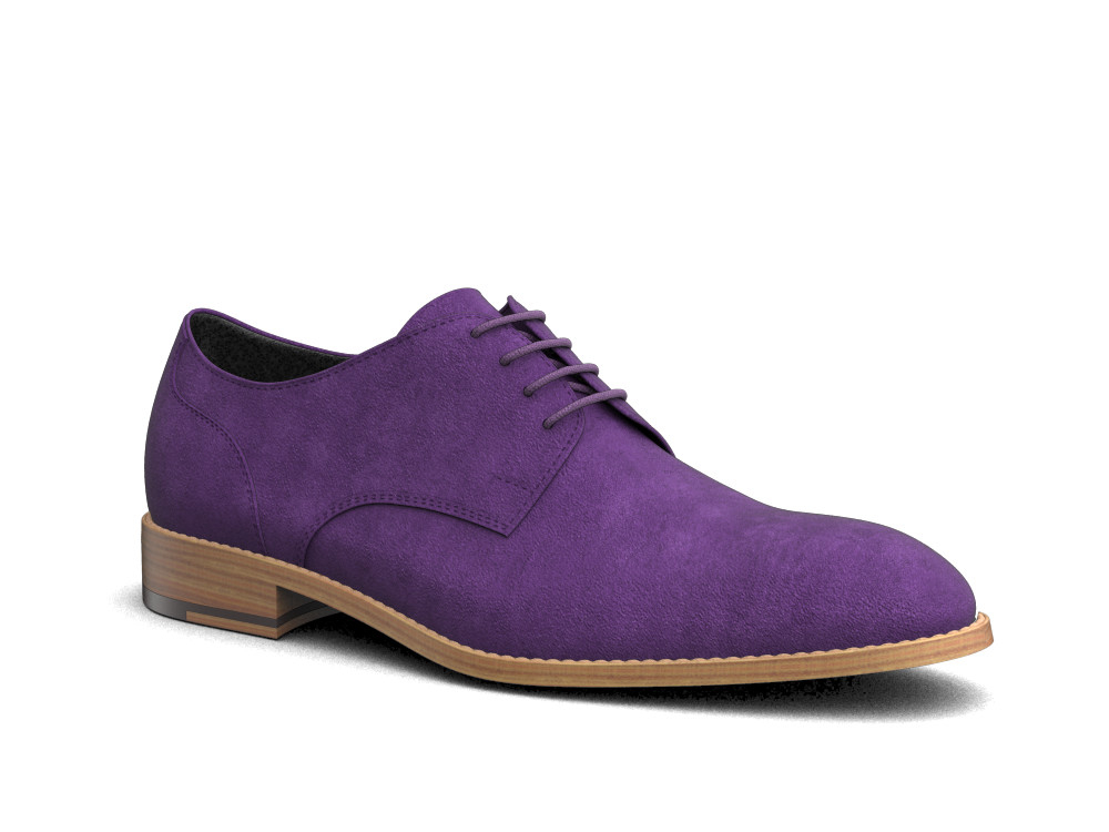 violet suede men derby shoes