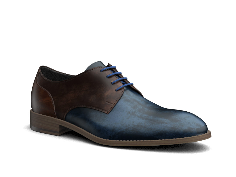 derby uomo pelle deco multicolor