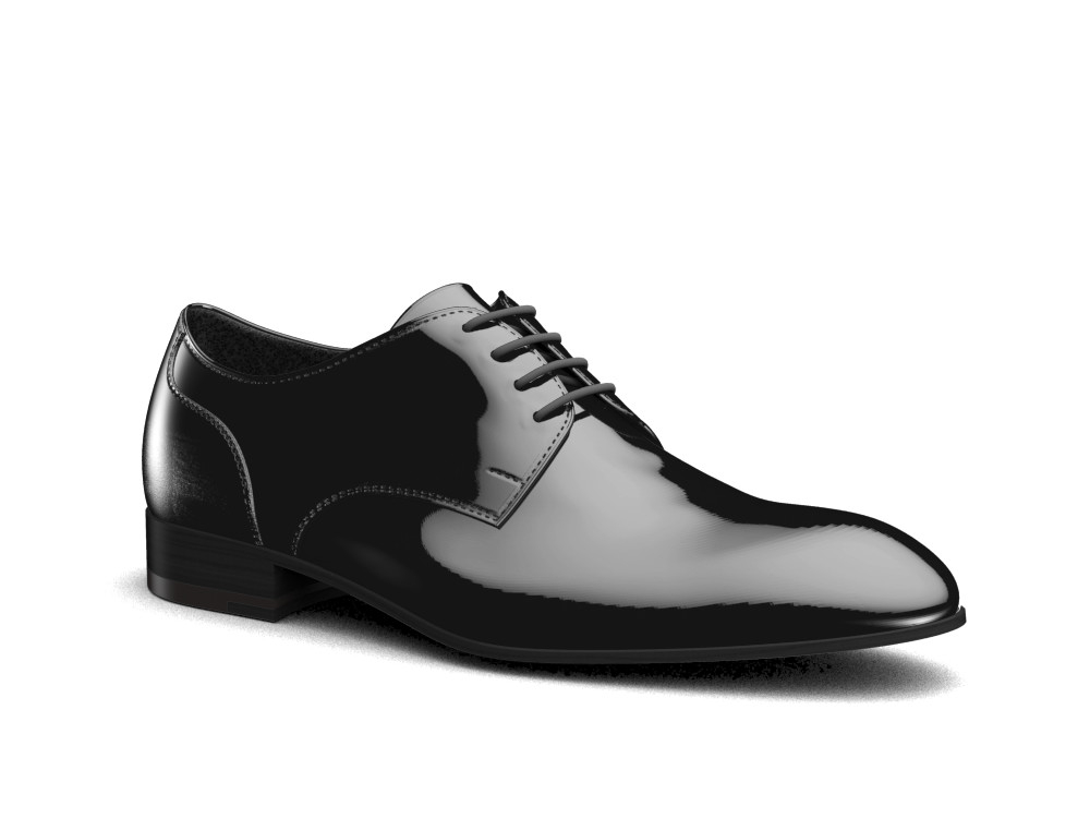 laminated silver leather men derby shoes