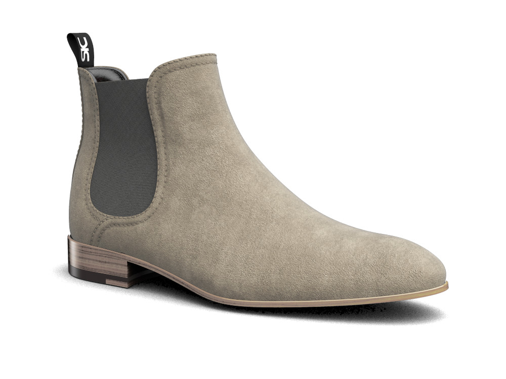sand suede leather men chelsea boot