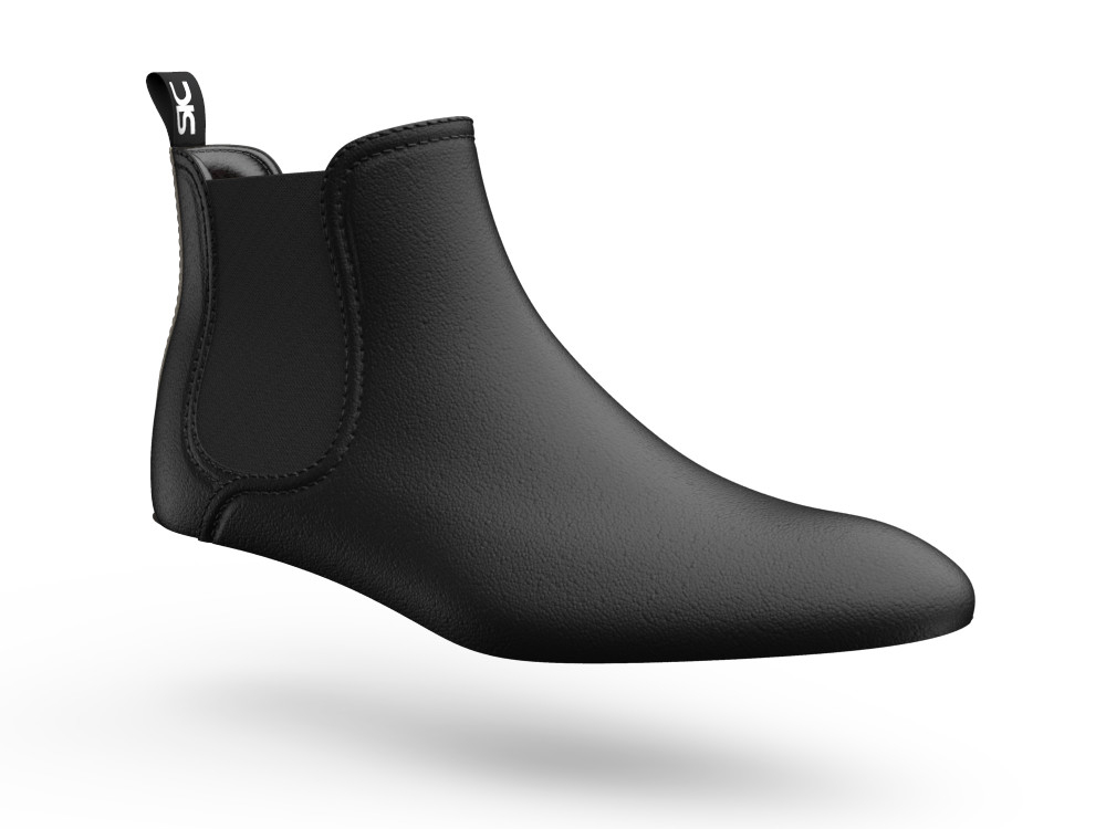 black calf leather men chelsea boot