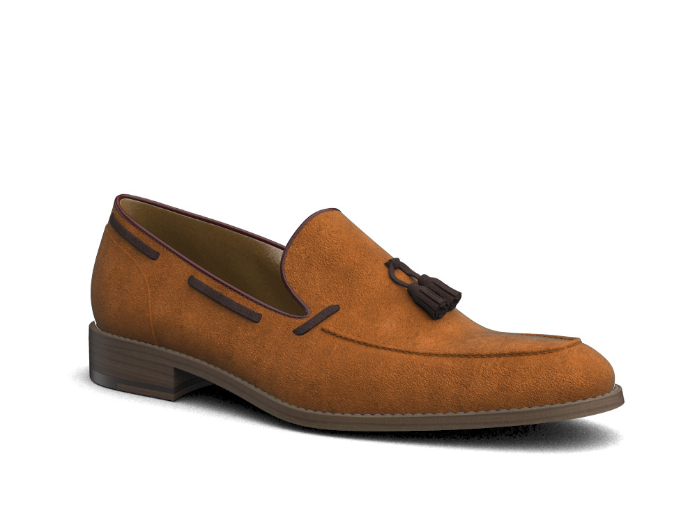 cola suede leather men tassel loafer