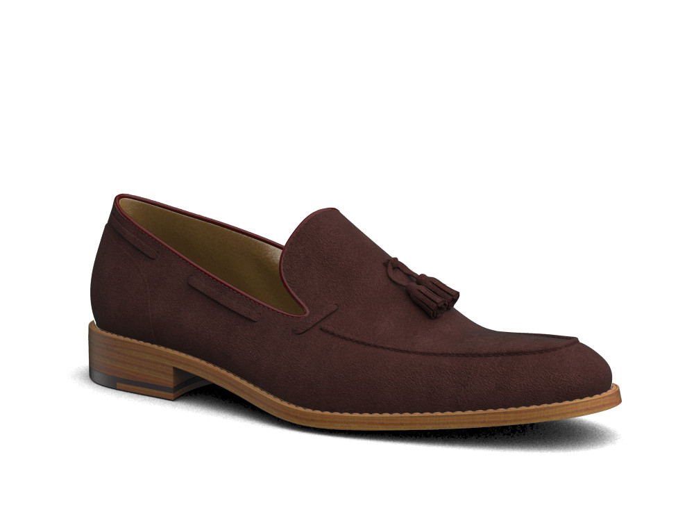 brown suede leather men slip on