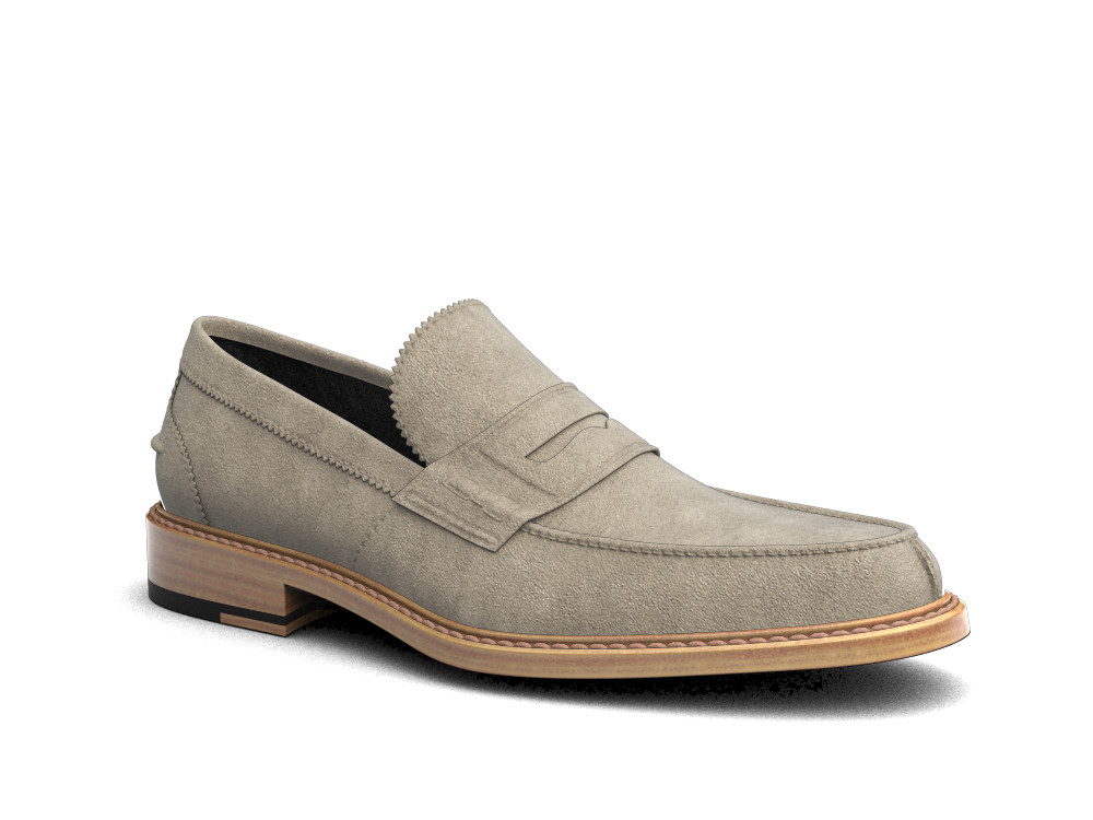 sand suede leather men college