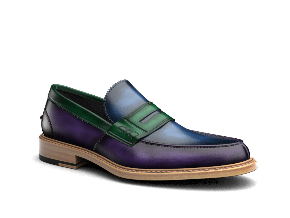 multicolour polished leather men college