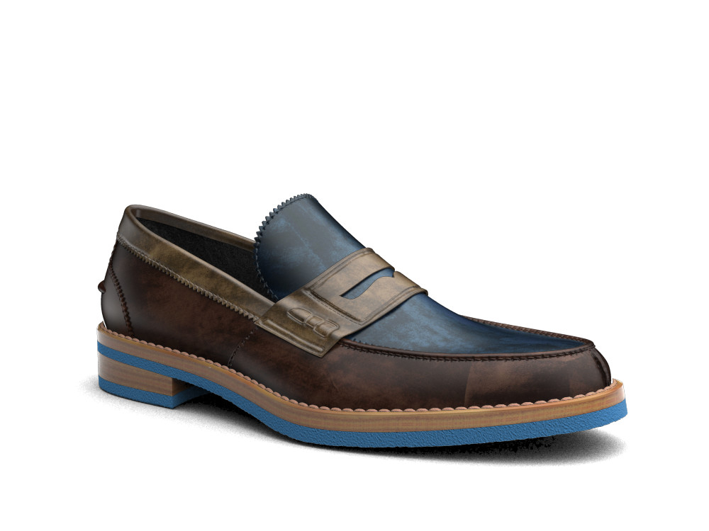 multicolour deco leather men college