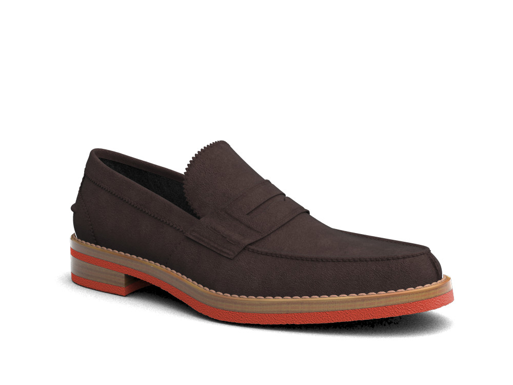 coffee suede leather men college