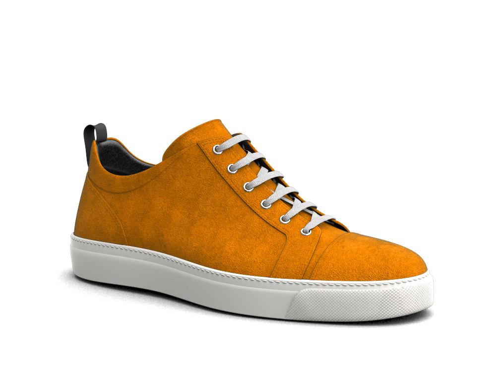 sneakers basse scamosciate arancione