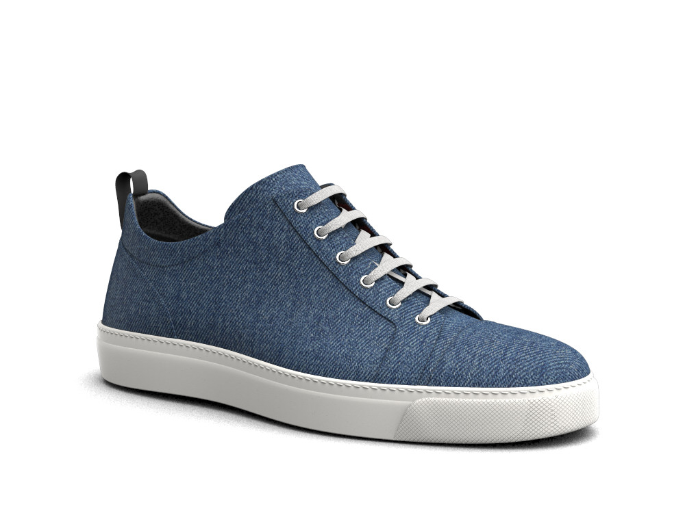 low top blue jeans sneakers
