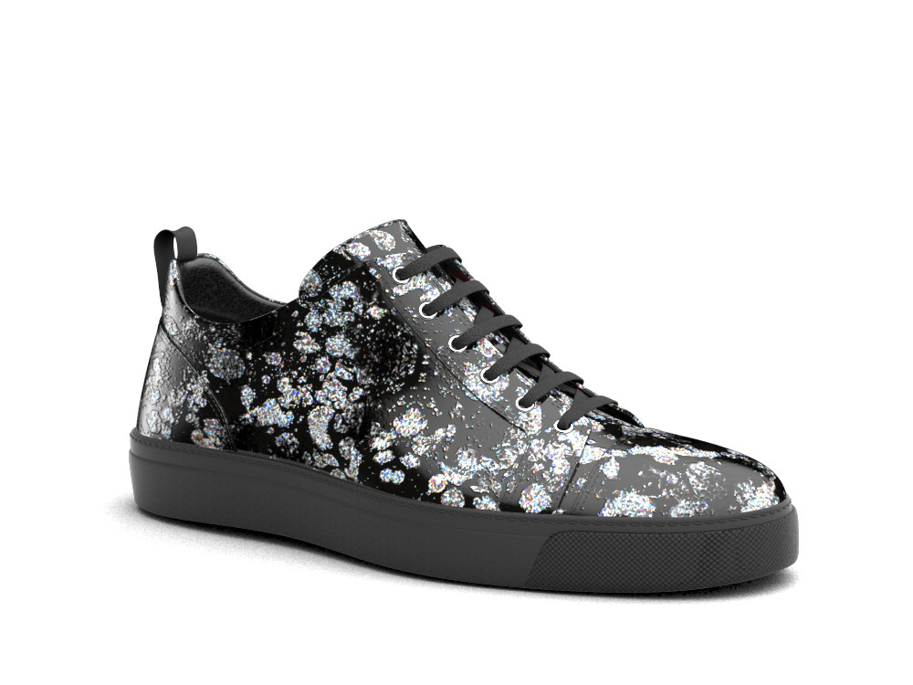 sneakers basse spruzzo silver