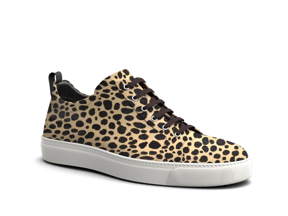 women low top leopard print sneakers