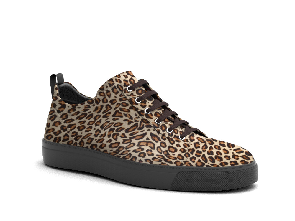 low top lynx hairy sneakers