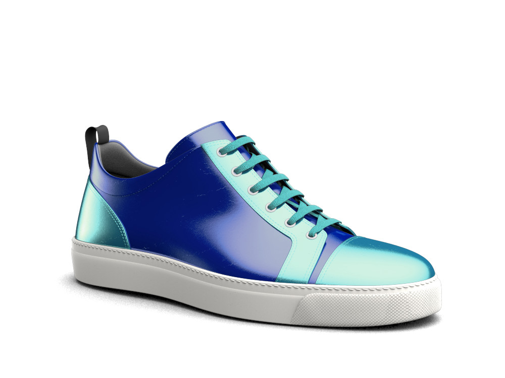 blue laminated woman low tpo sneaker
