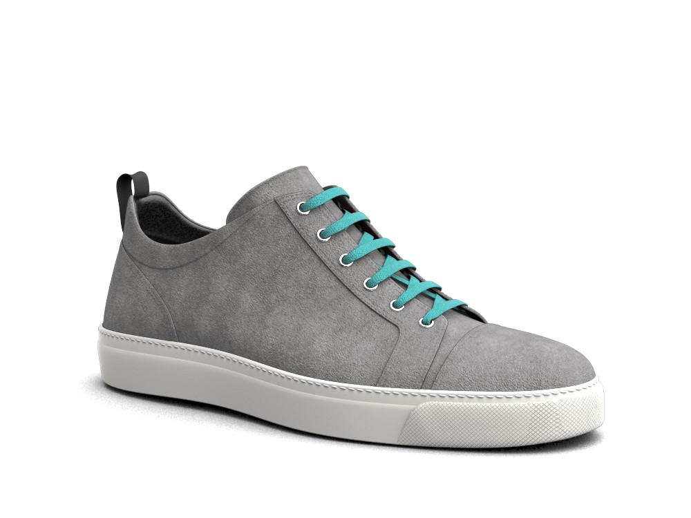 low top grey suede sneakers