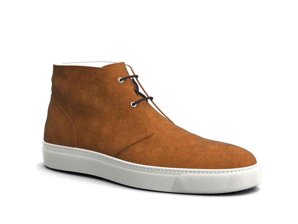 light brown suede leather sneaker boot