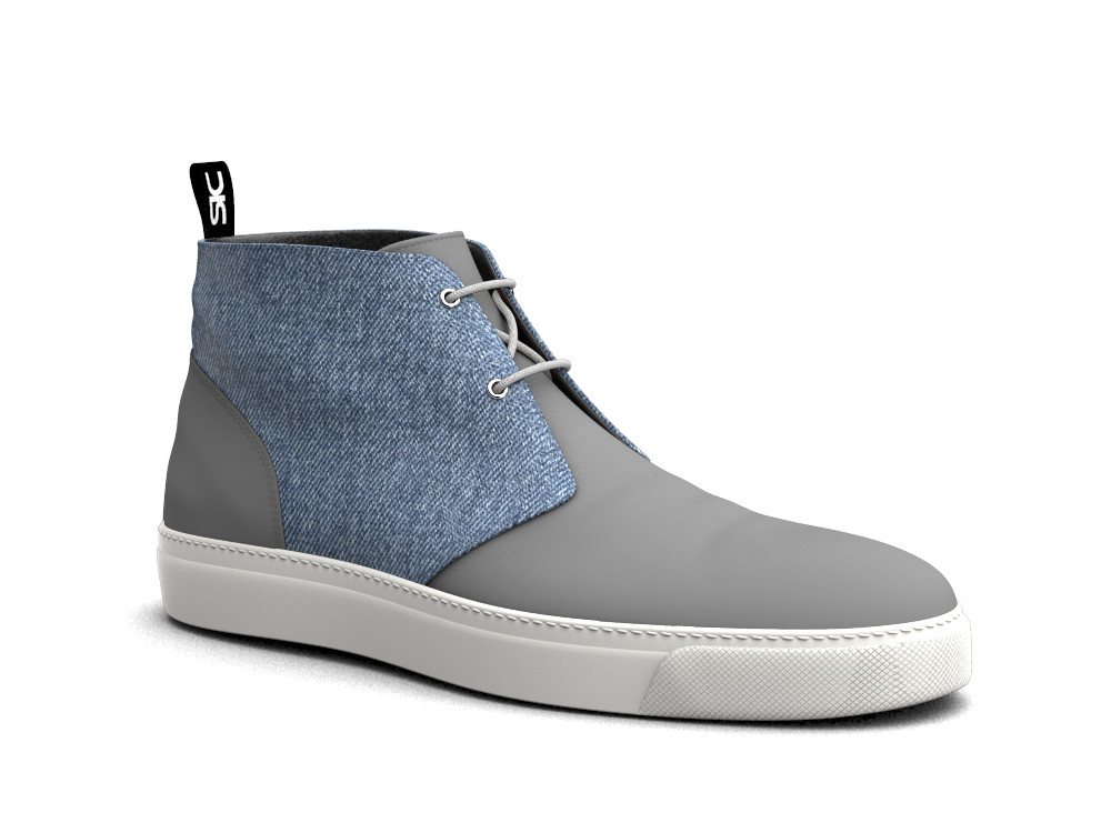 blue jeans denim sneaker boot