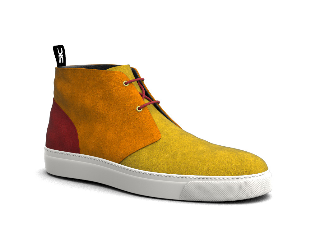 sneakers boot scamosciato multicolor