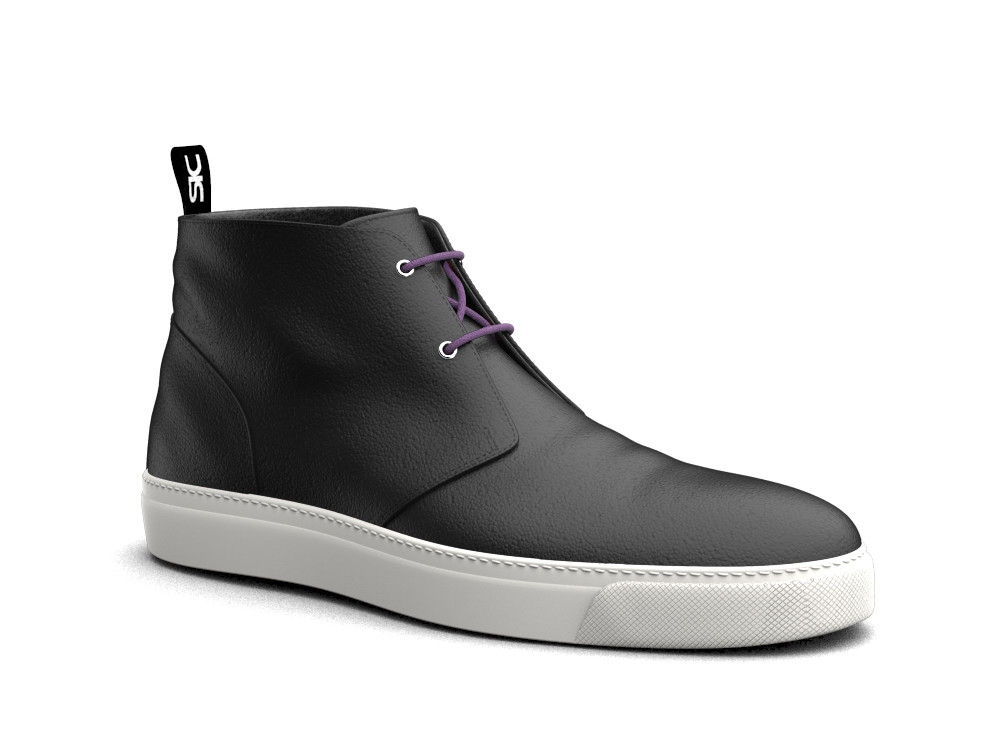 sneakers boot vitello nero