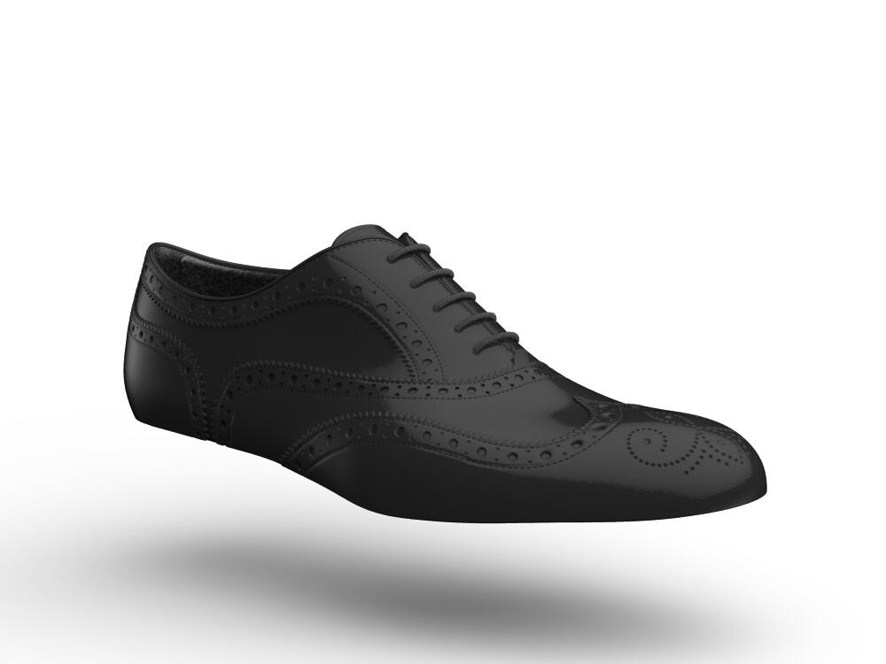 black shiny women oxford shoes